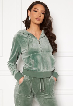 Juicy Couture Robertson Classic Velour Hoodie Chinois Green Bubbleroom.se