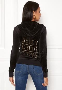 Juicy Couture Stack Velour Robertson Jacket Pitch Black Bubbleroom.se