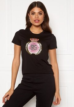 Juicy Couture Traditional Logo Tee Pitch Black Bubbleroom.se