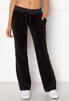 Juicy Couture Velour Del Rey Pant Pitch Black Bubbleroom.se