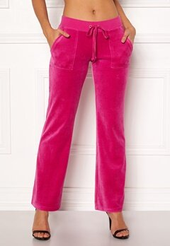 Juicy Couture Velour Del Rey Pant Raspberry Pink Bubbleroom.se