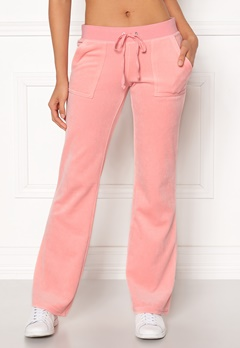 Juicy Couture Velour Del Rey Pant Sorbet Pink Bubbleroom.se