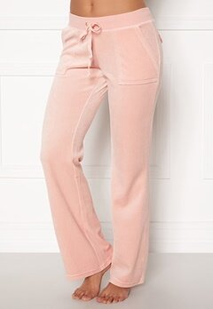 Juicy Couture Velour On Going Pant Silver Pink Bubbleroom.se