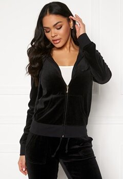 Juicy Couture Velour Track On Going Jkt Pitch Black Bubbleroom.se