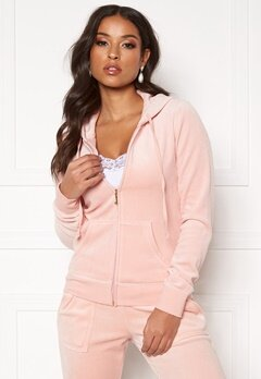 Juicy Couture Velour Track On Going Jkt Silver Pink Bubbleroom.se