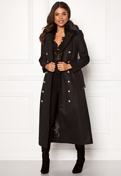 Ida Sjöstedt Jules Coat Wool Black Bubbleroom.se