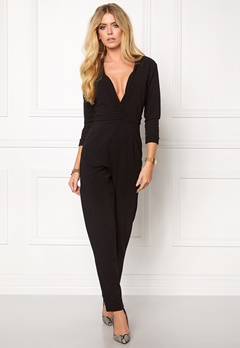 Girl In Mind Jumpsuit Black Bubbleroom.no