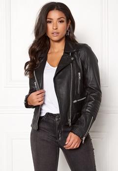JOFAMA Kajta Leather Jacket 00 Black Bubbleroom.se