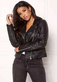 JOFAMA Kajta Leather Jacket 00 Black Bubbleroom.se