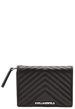 Karl Lagerfeld Classic Quilted Wallet Black Bubbleroom.se