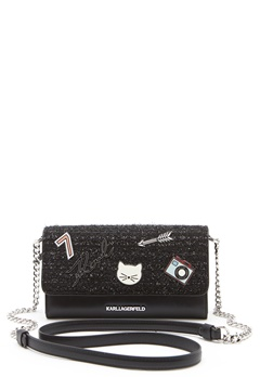 Karl Lagerfeld Classic Wallet On Chain Black Bubbleroom.se