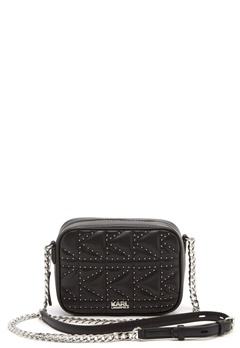 Karl Lagerfeld Quilted Stud Camera Bag Black/Nickel Bubbleroom.se