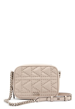 Karl Lagerfeld Quilted Stud Camera Bag Taupe Bubbleroom.se