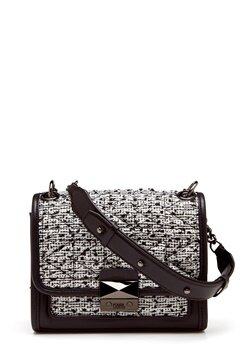 Karl Lagerfeld Quilted Tweed Small Bag Black/White Bubbleroom.se