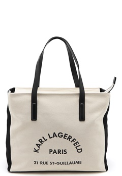 Karl Lagerfeld Rue Lagerfeld Beachbag Natural Bubbleroom.se