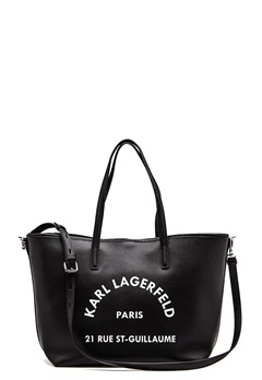 Karl Lagerfeld Rue St Guillaume Tote Black/Nickel Bubbleroom.se