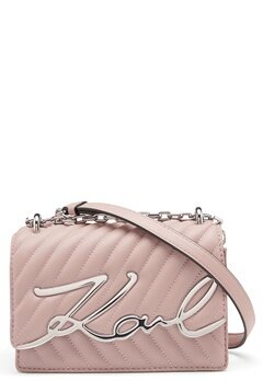 Karl Lagerfeld Signature Stitch S Bag 526 Powder Pink Bubbleroom.se