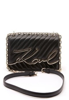 Karl Lagerfeld Signature Stitch S Bag 997 Black/Gold Bubbleroom.se