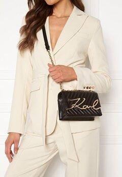 Karl Lagerfeld Signature Stitch S Bag 997 Black/Gold Bubbleroom.se