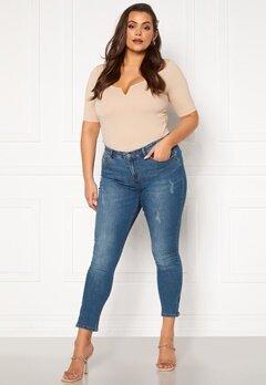 Only Carmakoma Karla Reg Ank Sk Jeans Medium Blue Denim Bubbleroom.se