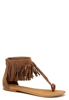 VERO MODA Kate leather sandal Cognac Bubbleroom.no