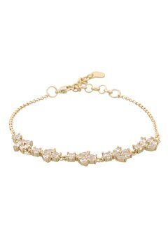 SNÖ of Sweden Kathy Bracelet Gold/Clear Bubbleroom.se
