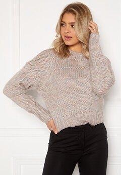 OBJECT Katie L/S Knit Pullover Fossil Melange Bubbleroom.se