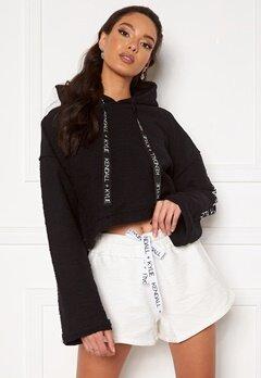 KENDALL + KYLIE K&K Active Hoody Inside Out Sweater Short Black Bubbleroom.se