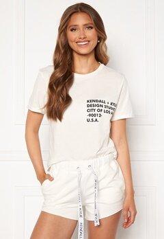 KENDALL + KYLIE K&K Classic Logo T-Shirt White Bubbleroom.se