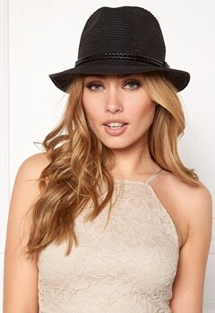 Pieces Lea Straw Hat Black Bubbleroom.se