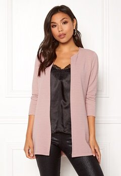 ONLY Leco 7/8 Long Cardigan Adobe Rose Bubbleroom.se