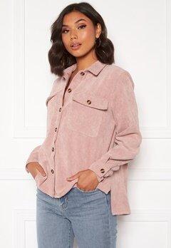 Pieces Leffi LS Shirt Ash Rose Bubbleroom.se