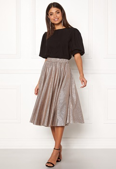 VILA Lena Midi Skirt Dusty Camel Bubbleroom.se