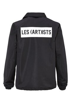 Les Artists COACH JACKET BOX LOGO BLACK Bubbleroom.se