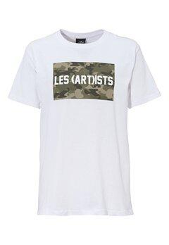 Les Artists TEE BOX LOGO WHITE Bubbleroom.no