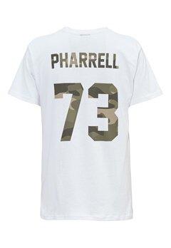 Les Artists TEE FOOTBALL PHARRELL73 WHITE Bubbleroom.no