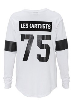 Les Artists TEE ML LES WHITE Bubbleroom.no