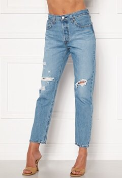 LEVI'S 501 Crop Jeans 0141 Sansome Light Bubbleroom.se