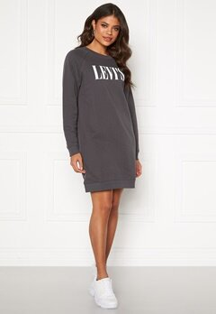 LEVI'S Crew Sweatshirt Dress Forged Iron Bubbleroom.se