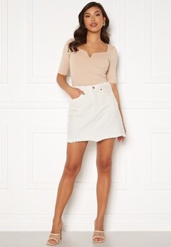 LEVI'S Hr Decon Iconic Bf Skirt 0010 Pearly White Bubbleroom.se