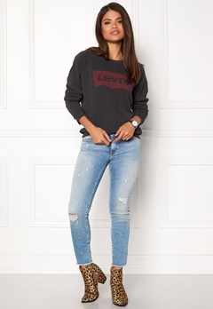 LEVI'S Relaxed Graphic Crew Black Bubbleroom.se