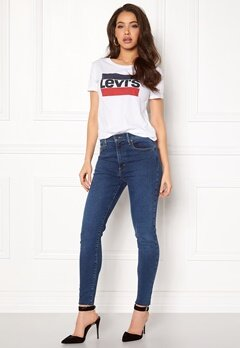 LEVI'S The Perfect Tee 100 Logo White Bubbleroom.fi