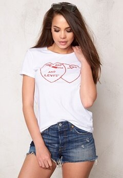 LEVI'S The Perfect Tee You Me 0235 White Bubbleroom.no