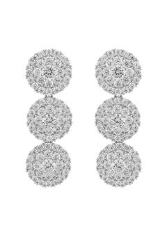 SNÖ of Sweden Lex Long Earrings Silver/Clear Bubbleroom.se