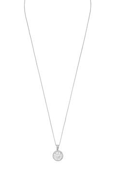 SNÖ of Sweden Lex Pendant Necklace Silver/Clear Bubbleroom.se