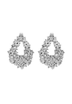 LILY AND ROSE Alice Pearl Earrings Dove Grey/Silver bubbleroom.se