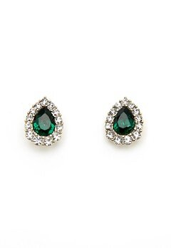 LILY AND ROSE Amelie Earrings Emerald Bubbleroom.se