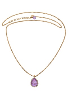 LILY AND ROSE Amy Necklace Lilac Rainbow/Gold Bubbleroom.se
