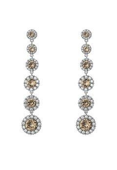 LILY AND ROSE Celeste Earrings Diamond Grey/silver Bubbleroom.se