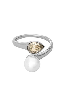 LILY AND ROSE Ella Pearl Ring Ivory Silver Bubbleroom.se